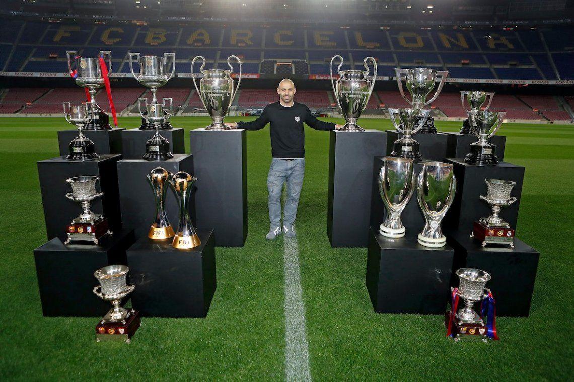 El Barça y sus excompañeros despidieron con emoción a Javier Mascherano