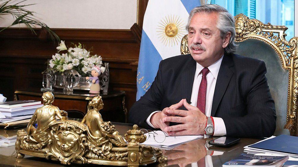 Alberto Fernández lo anunció.