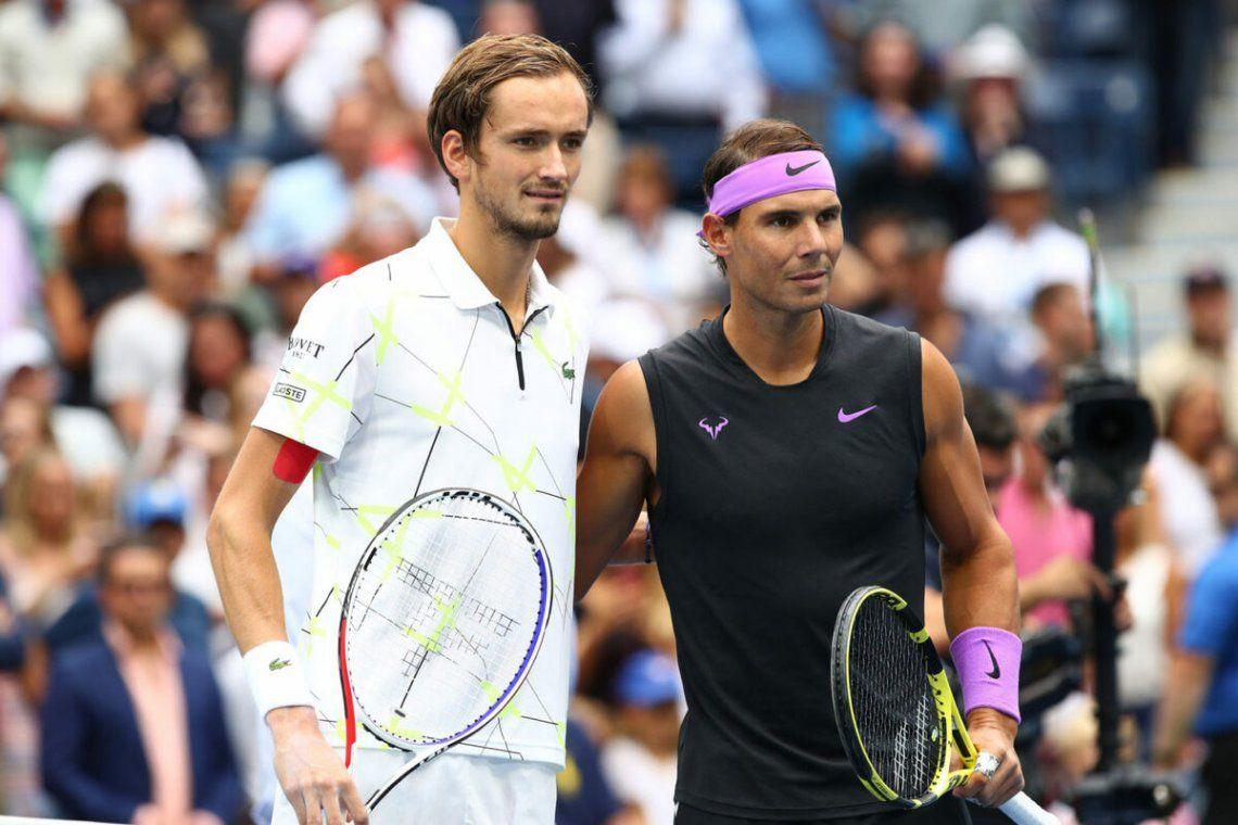 Rafael Nadal no pudo con el rusoDaniil Medvedev
