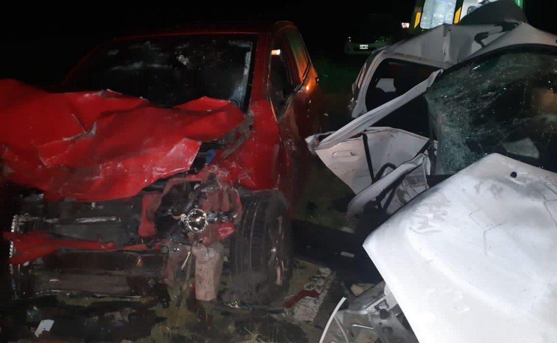 Así quedaron los rodados que protagonizaron el fatal accidente