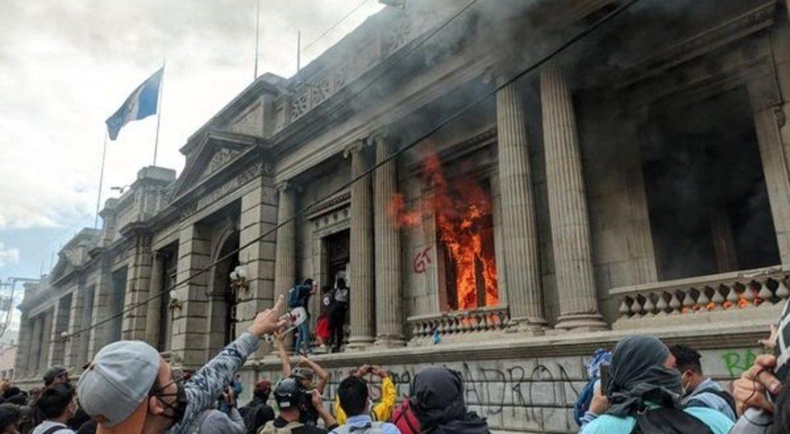 Violentas manifestaciones en Guatemala