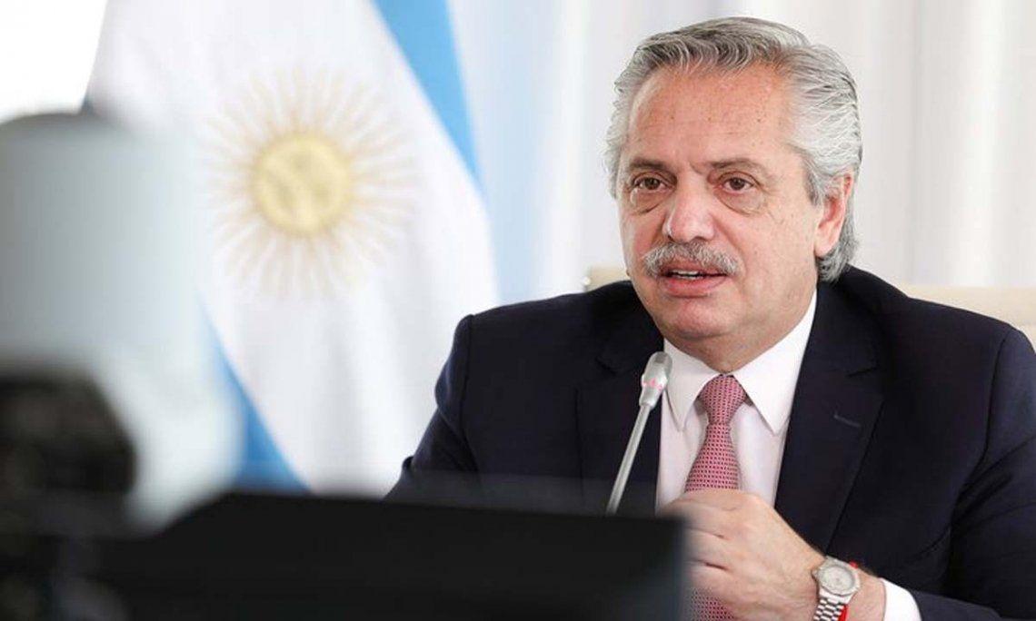 El presidente Alberto Fernández habló en el acto del Día de la Construcción