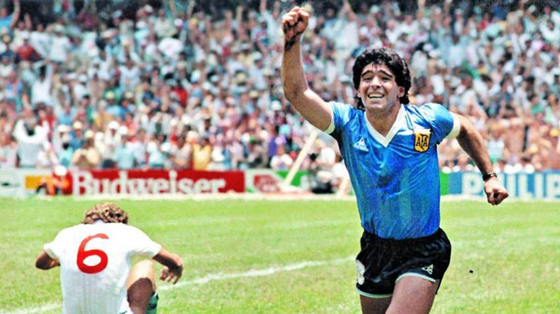 El festejo del mejor gol de todos los tiempos.