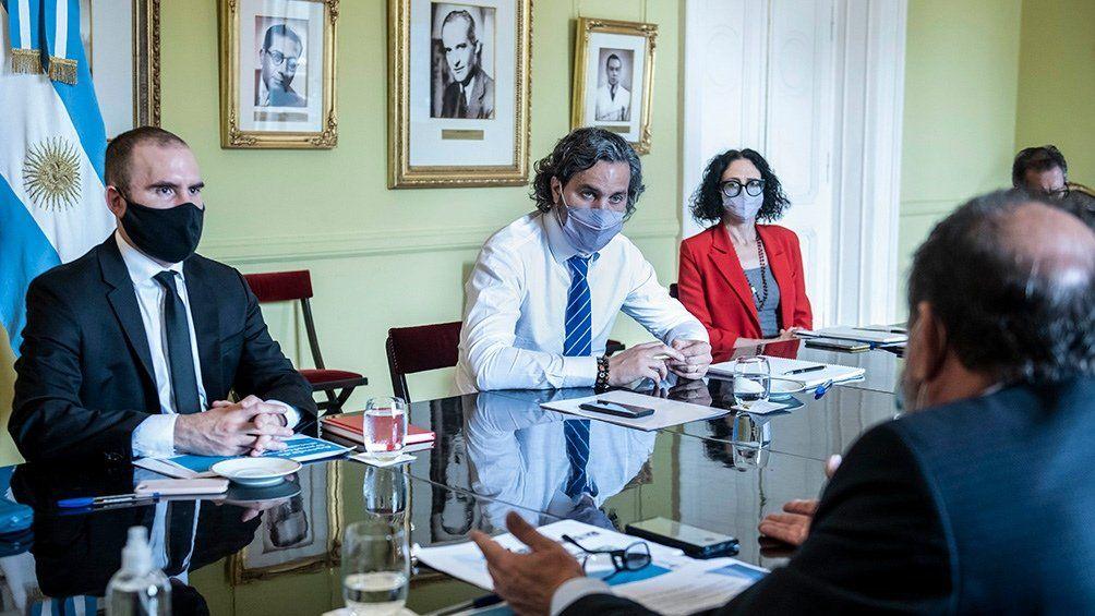 ATP: Santiago Cafiero encabezó la reunión.