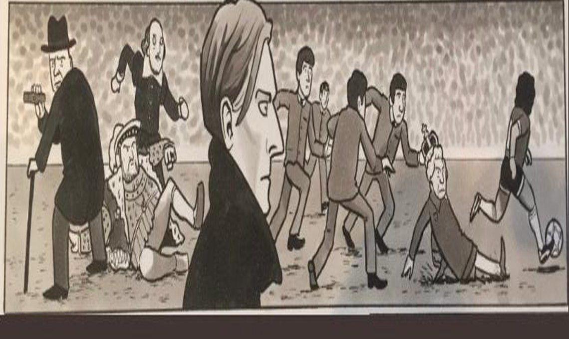 En la ilustración aparecen Winston Churchill