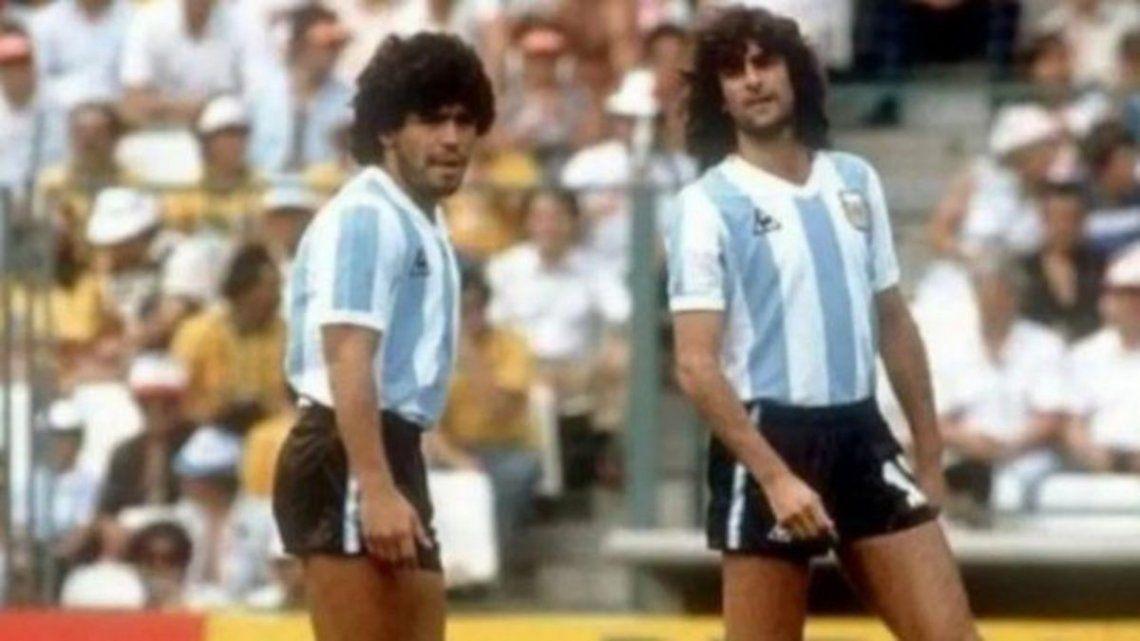 Diego Maradona y Mario Kempes