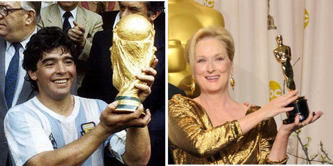 Twitter: Comparan a Maradona con Meryl Streep