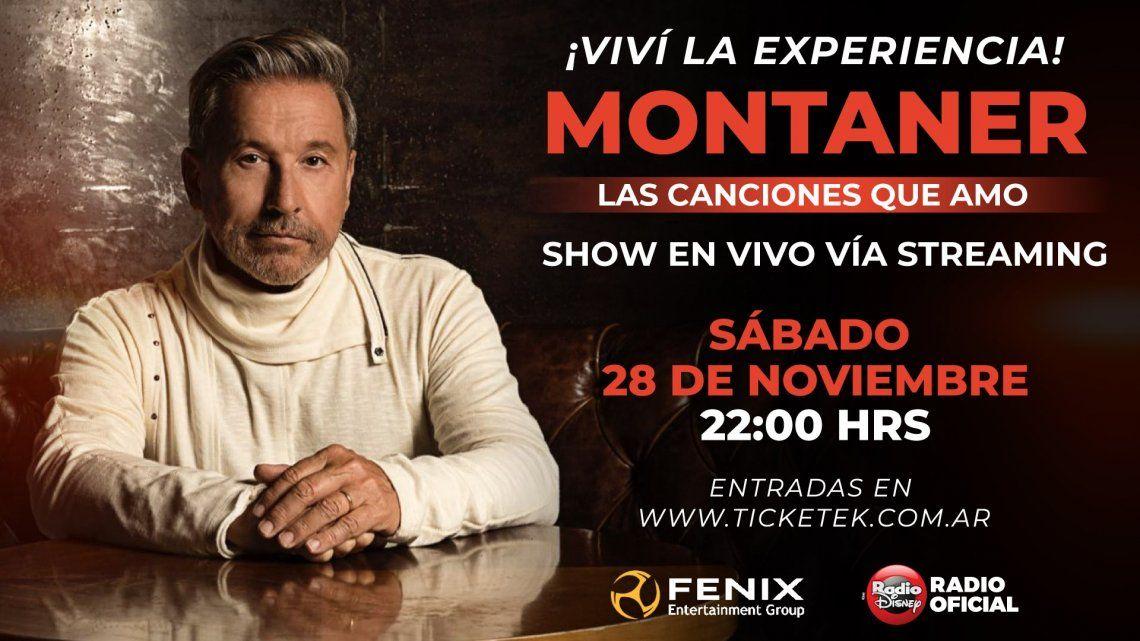 Ricardo Montaner presenta hoy su primer show vía streaming