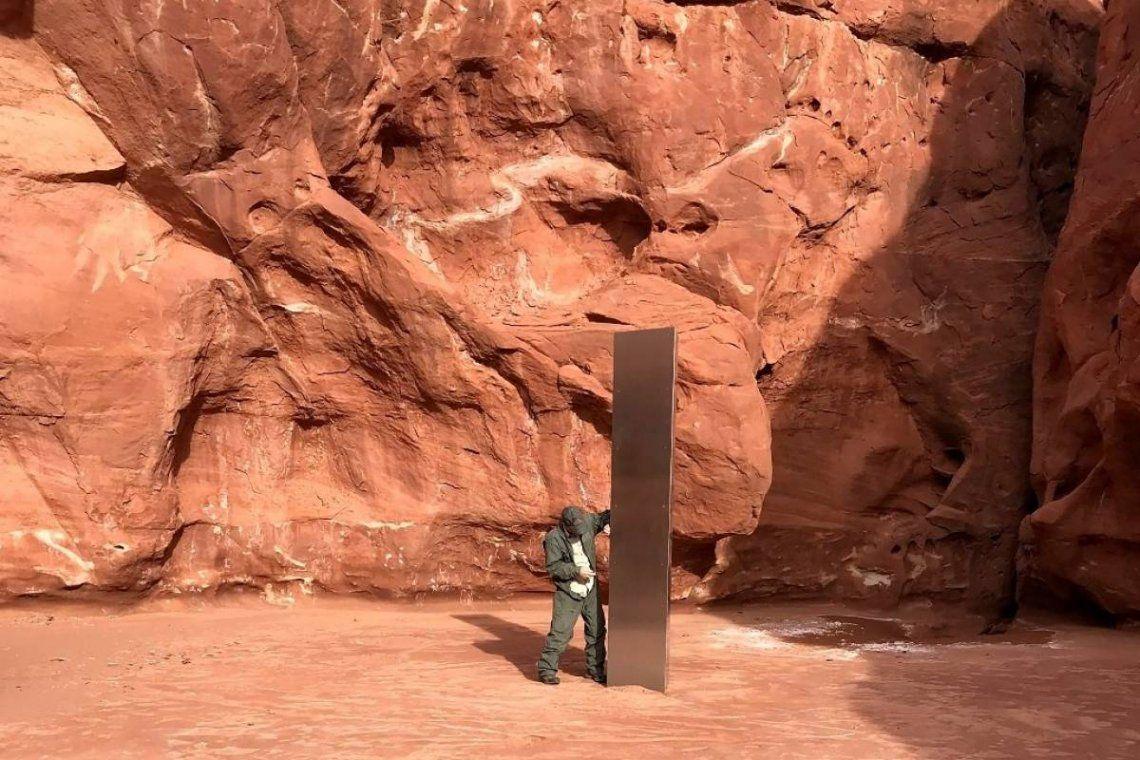 El monolito fue hallado en el desierto de Utah