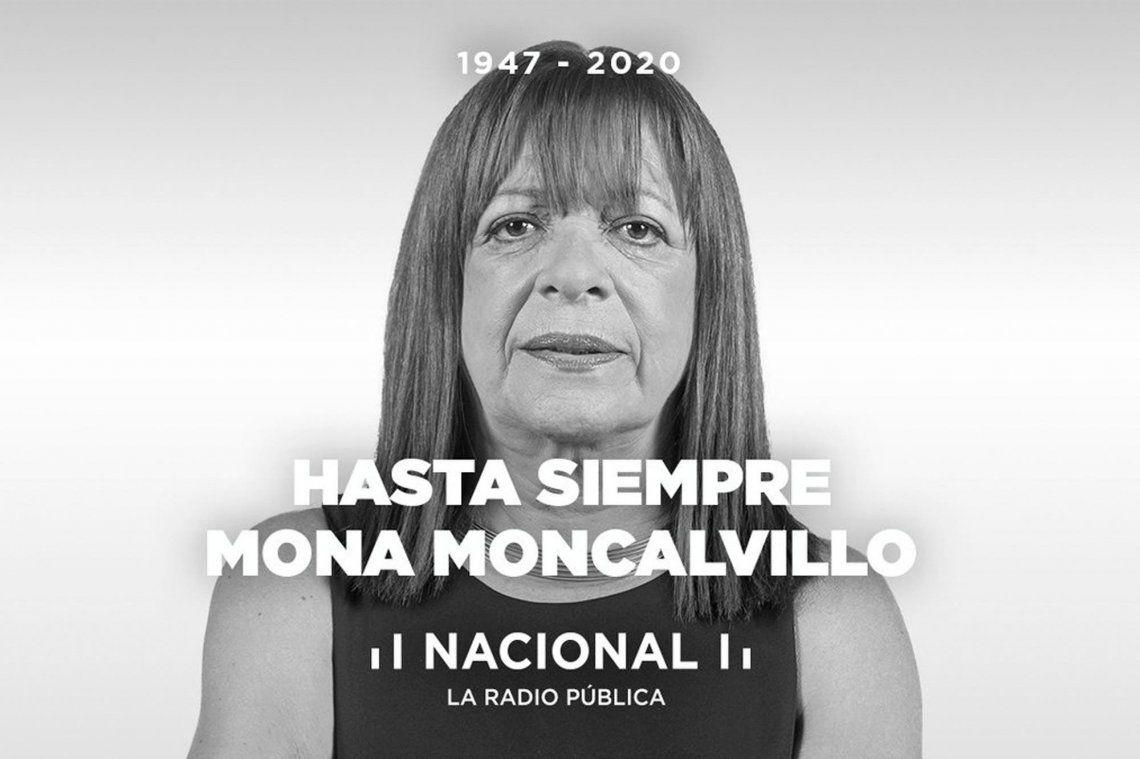 Adelina Olga Mona Moncalvillo falleció a los 73 años.