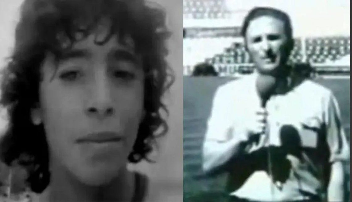 Diego Maradona y Tito Biondi.