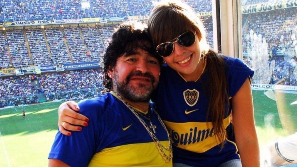 Dalma Maradona fue al palco que tiene en La Bombonera su padre en el partido donde Boca enfrentó a Newell´s.