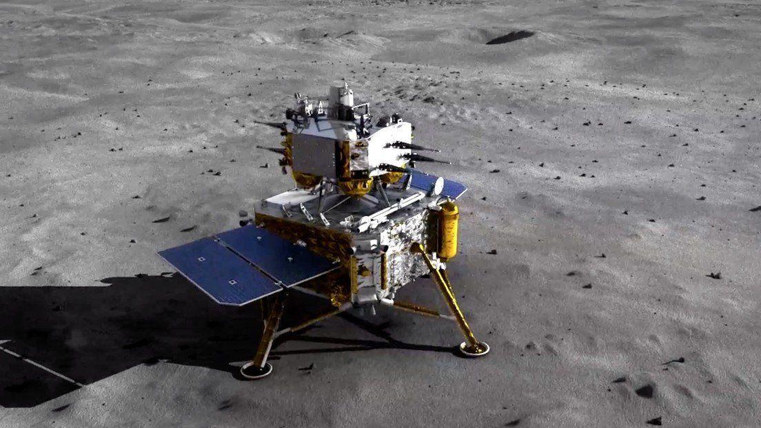 China envió una sonda a la Luna.