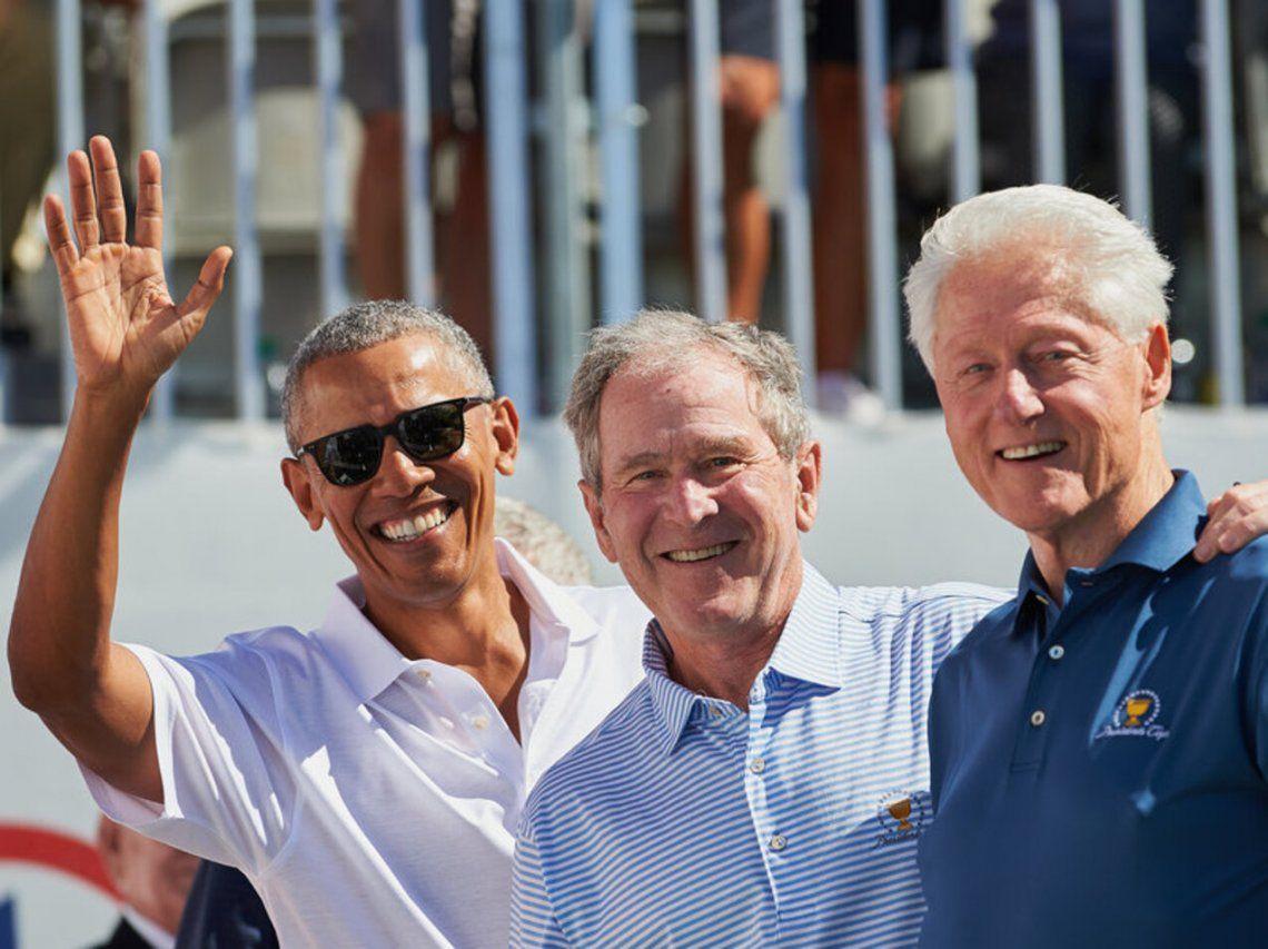 Estados Unidos: Los expresidentes Obama