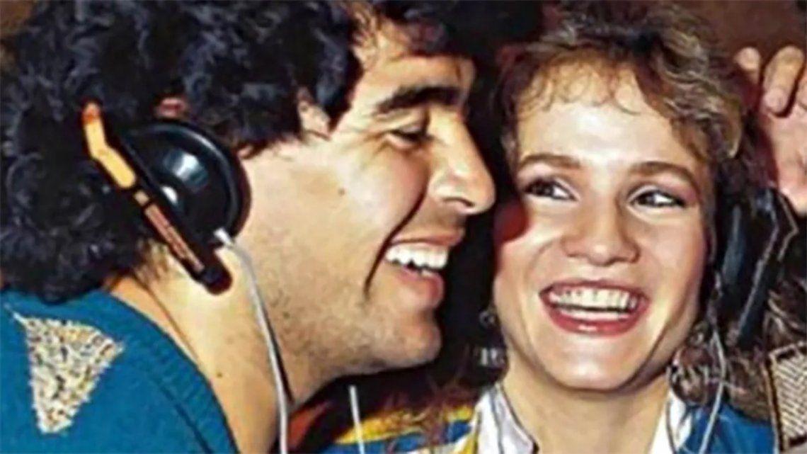 Diego Maradona y Lucía Galán.