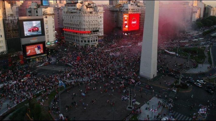 El festejo Millonario por la final histórica entre River y Boca.