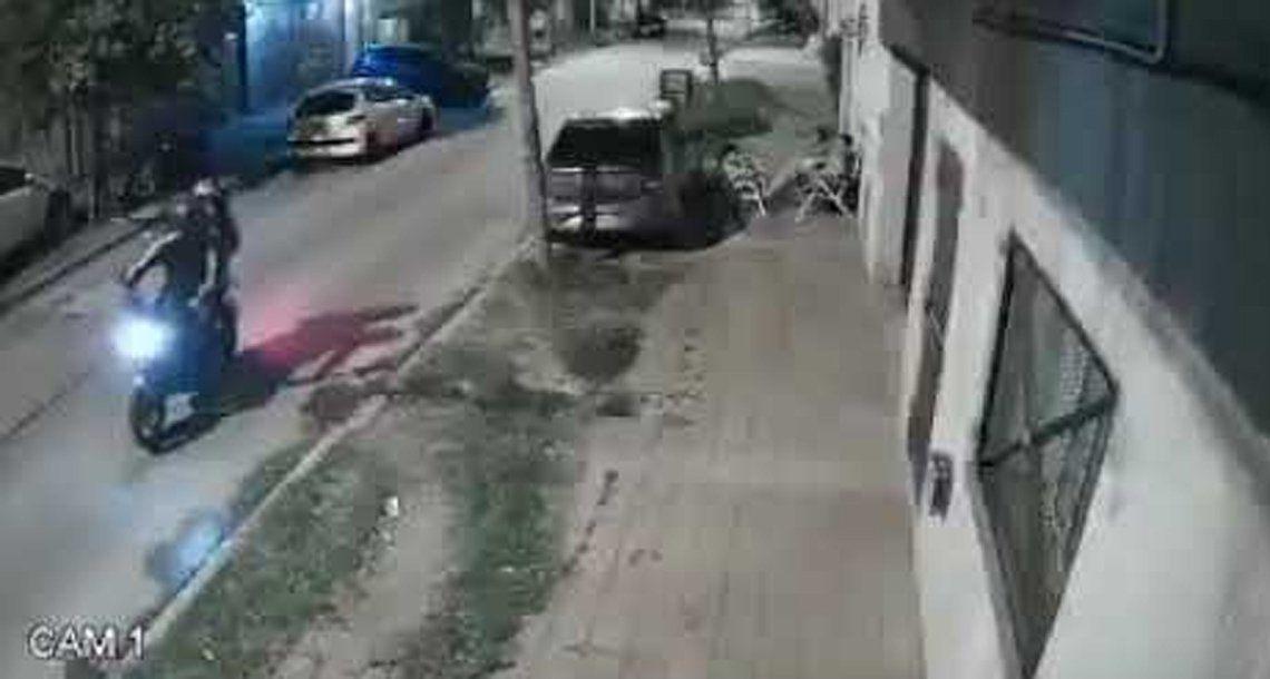 La Matanza: ataque de motochorros.