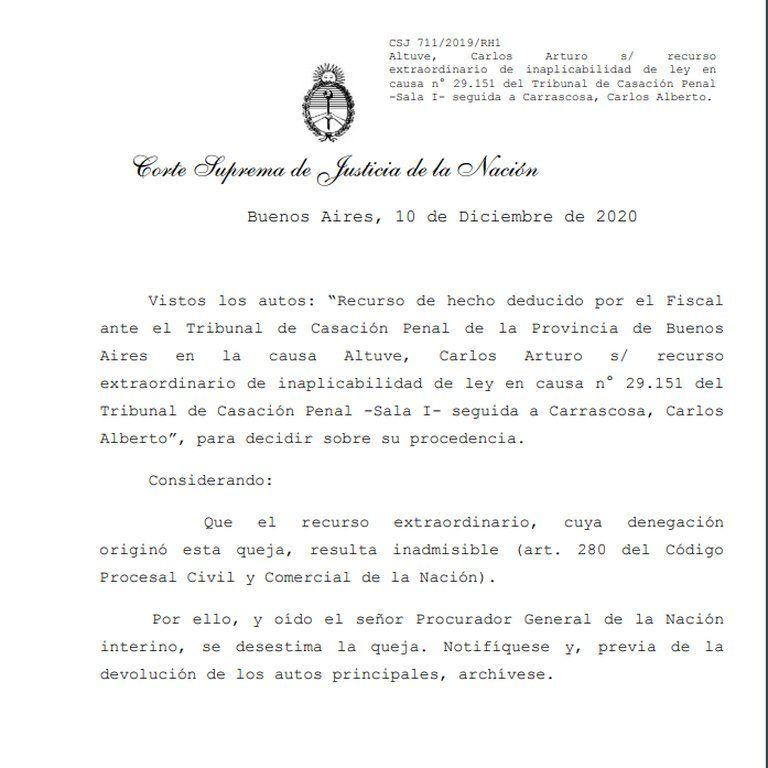 García Belsunce: el fallo de la Corte Suprema.