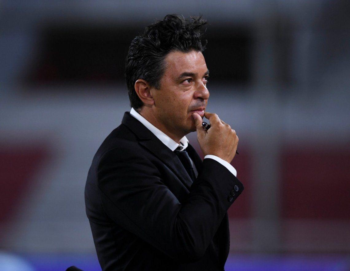 Marcelo Gallardo ya piensa en el partido de vuelta frente a Nacional.