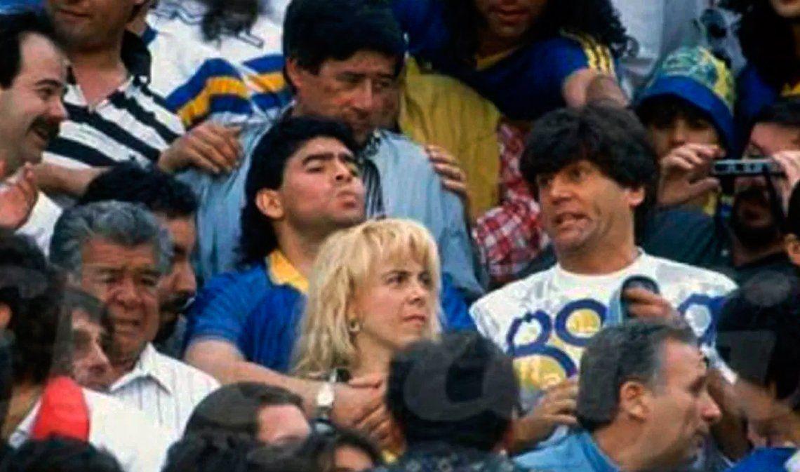 Carlos Calvo y Diego Maradona: de alentar a Boca en la popular a romperla jugando al fútbol