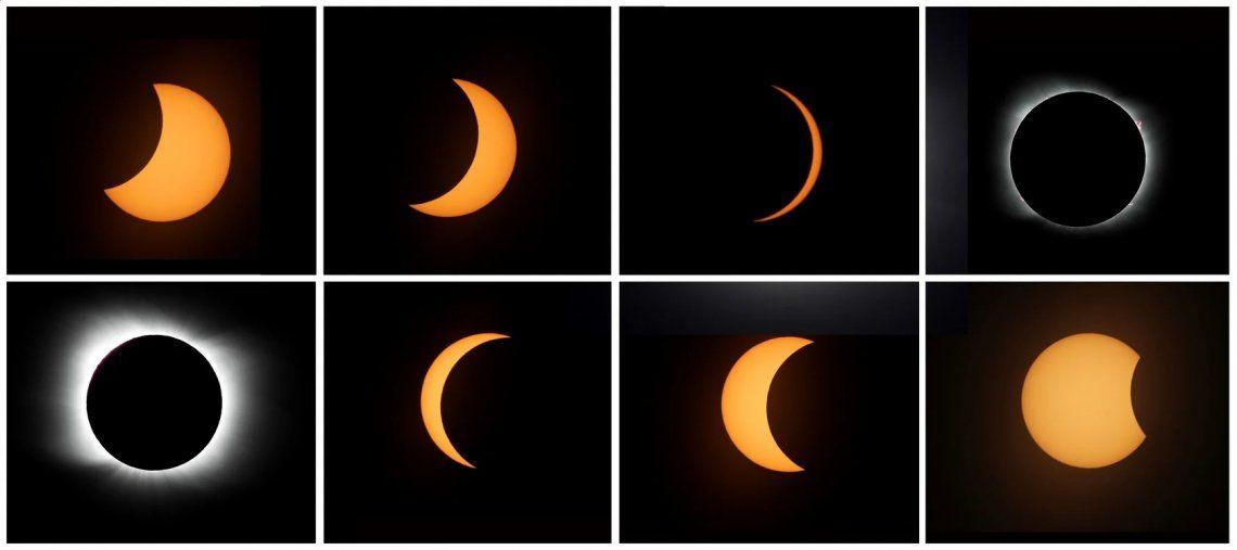 Eclipse solar 2020: las mejores imágenes del fenómeno astronómico
