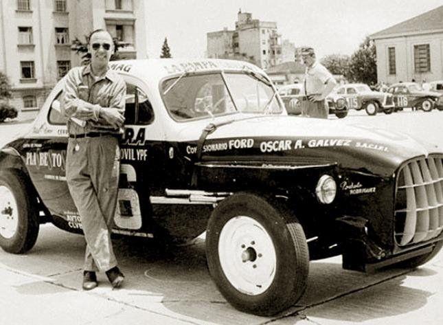Oscar Alfredo Gálvez fue el primer argentino en vencer a los grandes pilotos europeos.