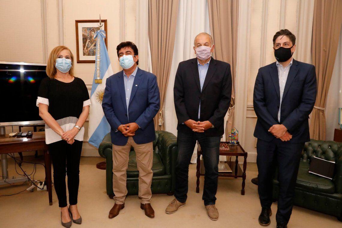 El intendente Fernando Espinoza se reunió con el ministro de Educación Nicolás Trotta con el fin de impulsar la apertura de la sede González Catán de la UNLAM