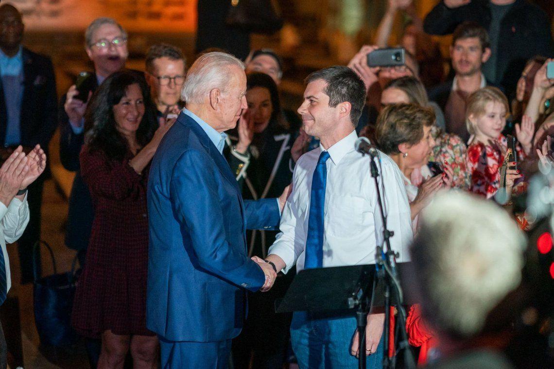 Biden y Pete Buttigieg.