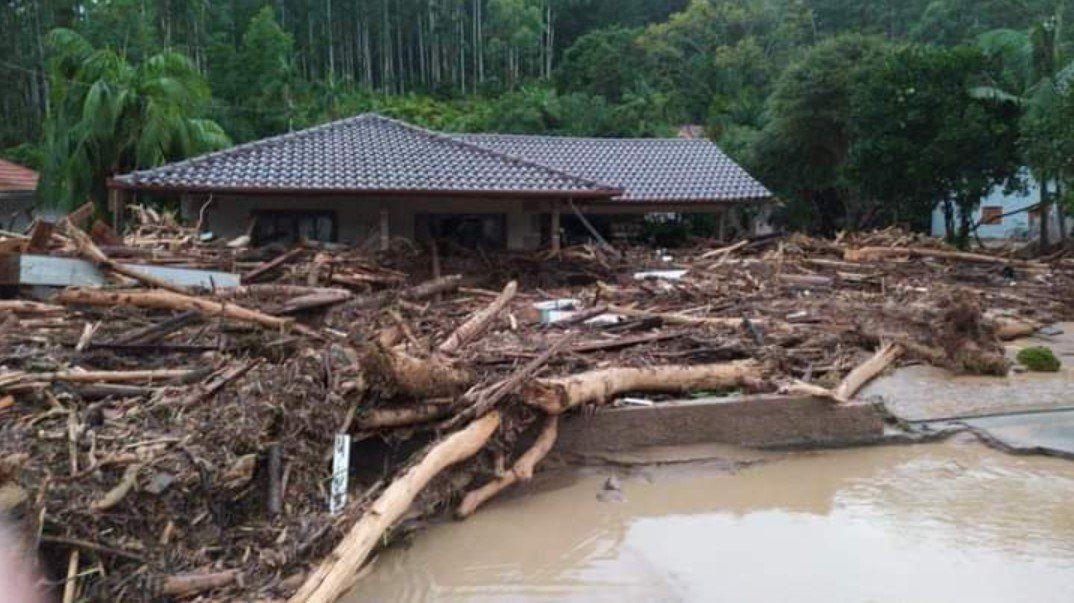 Fuertes tormentas afectaron seriamente al sur de Brasil