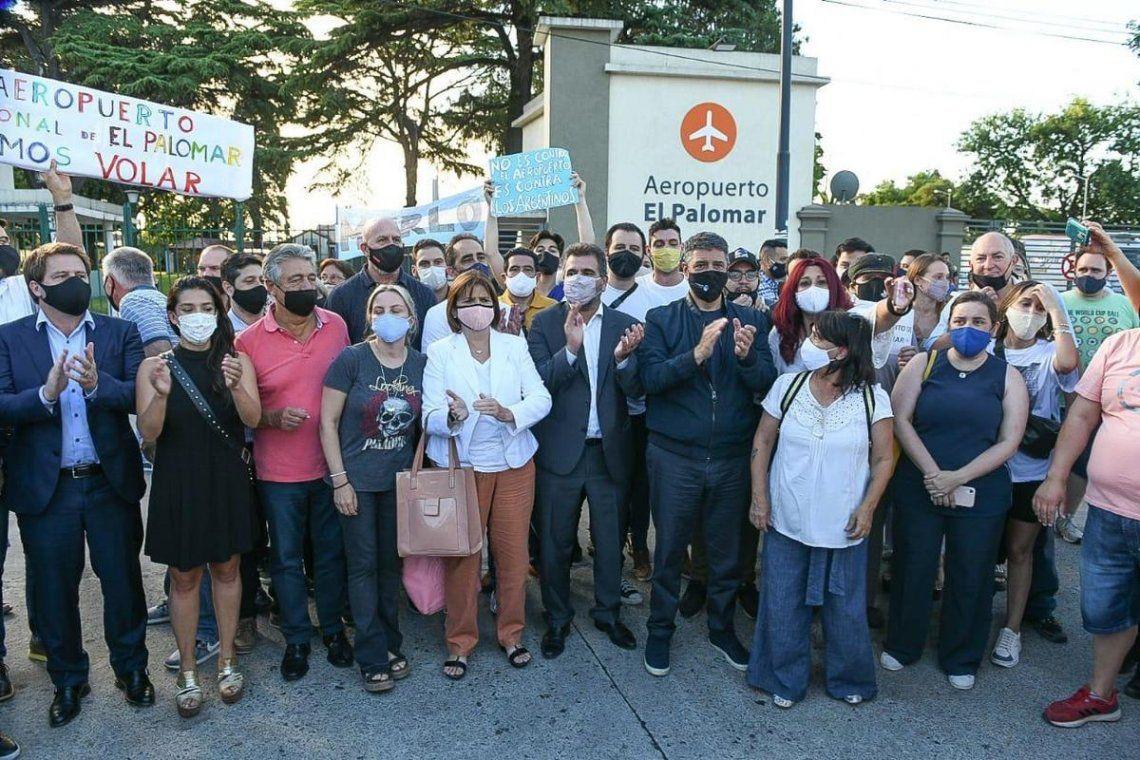 Dirigentes de Juntos por el Cambio apoyaron a los vecinos de El Palomar