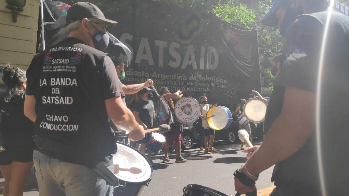 Canal 9: Los trabajadores se movilizaron contra la intervención judicial