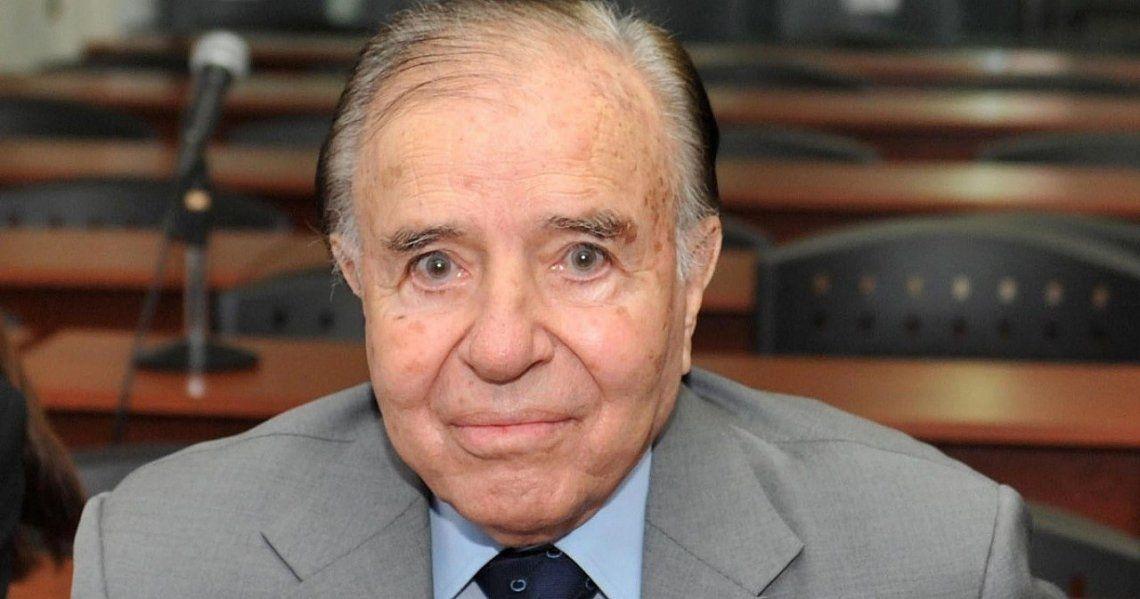 El ex presidente Menem estuvo internado dos veces este año