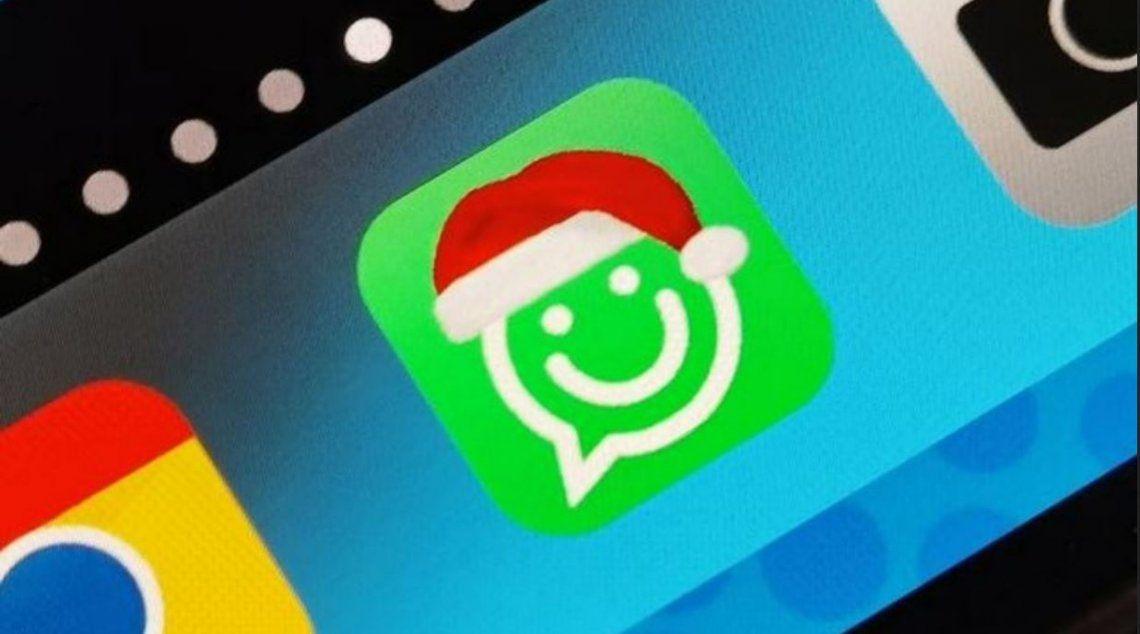 WhatsApp: el truco para tener el icono del gorro de Navidad