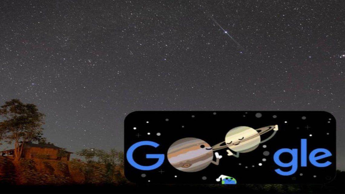 Google celebra la gran conjunción de Júpiter y Saturno.