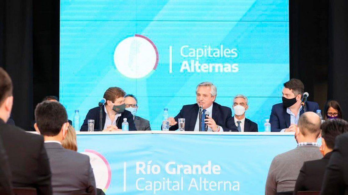 Alberto Fernández puso en marcha el proyecto de Capitales Alternas desde Tierra del Fuego.