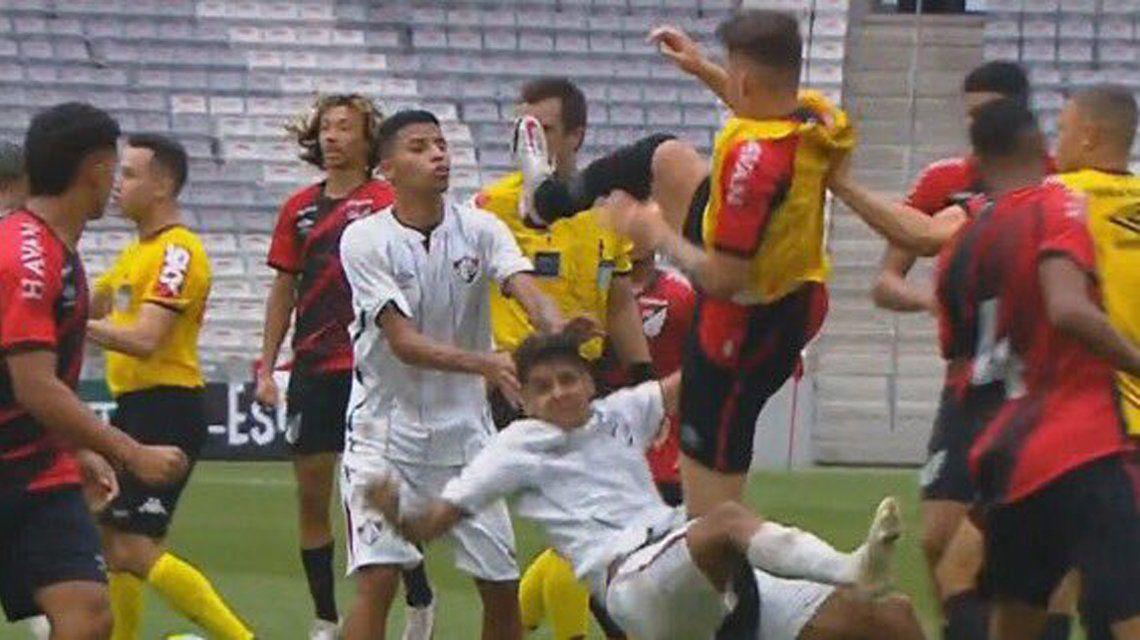 Violenta batalla campal en la final del Brasileirao Sub-17.