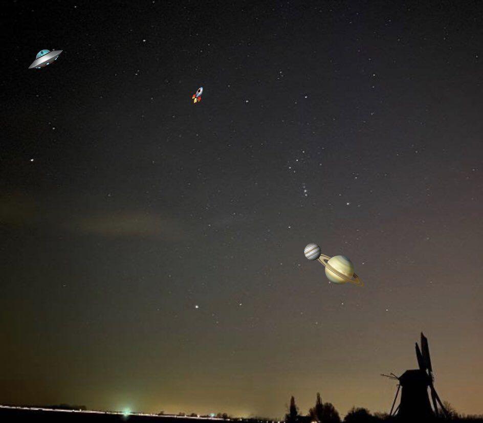 Memes: ni la conjunción de Júpiter y Saturno se salvó