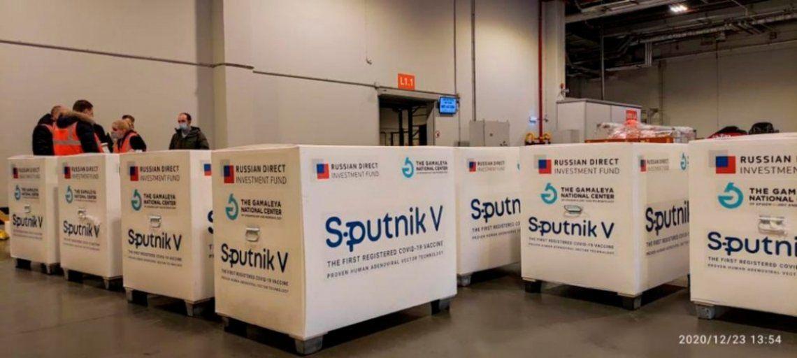 La vacuna Sputnik V antes de ser embarcada