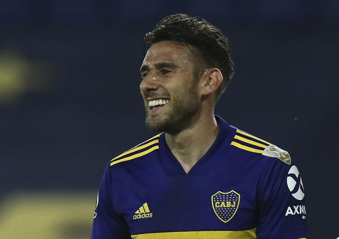 Eduardo Salvio marcó el primer gol de Boca Juniors