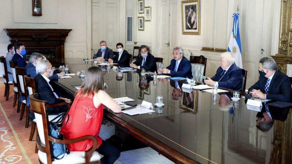 La reunión del Comité de Vacunación en Casa Rosada.