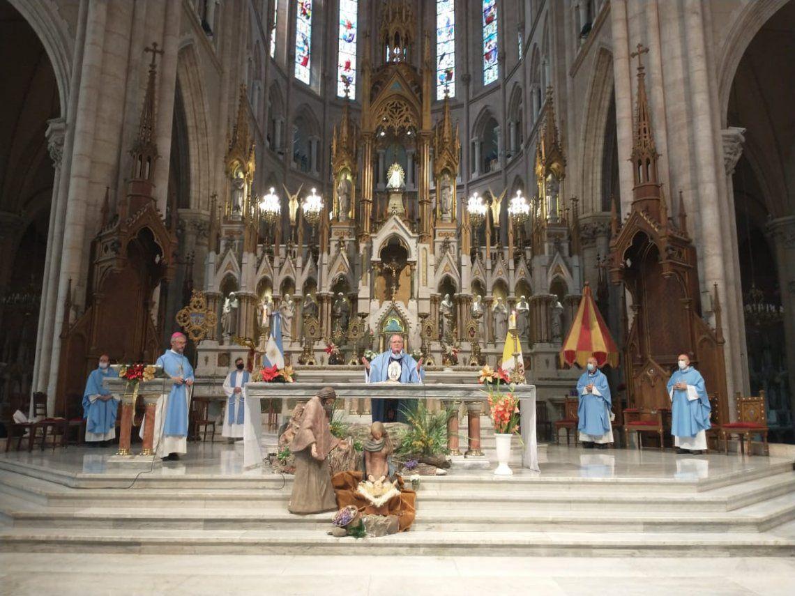 Basilica de Luján: monseñor Ojea pidió una serena reflexión a los senadores que deben votar el aborto