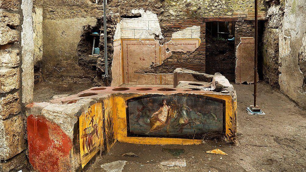 Arqueología: Hallan en Pompeya un puesto de comidas rápidas del año 79 DC