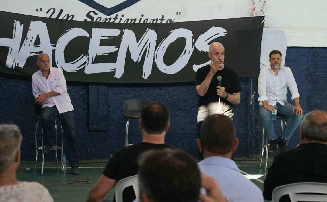 Grindetti y Larreta en el plenario de Hacemos