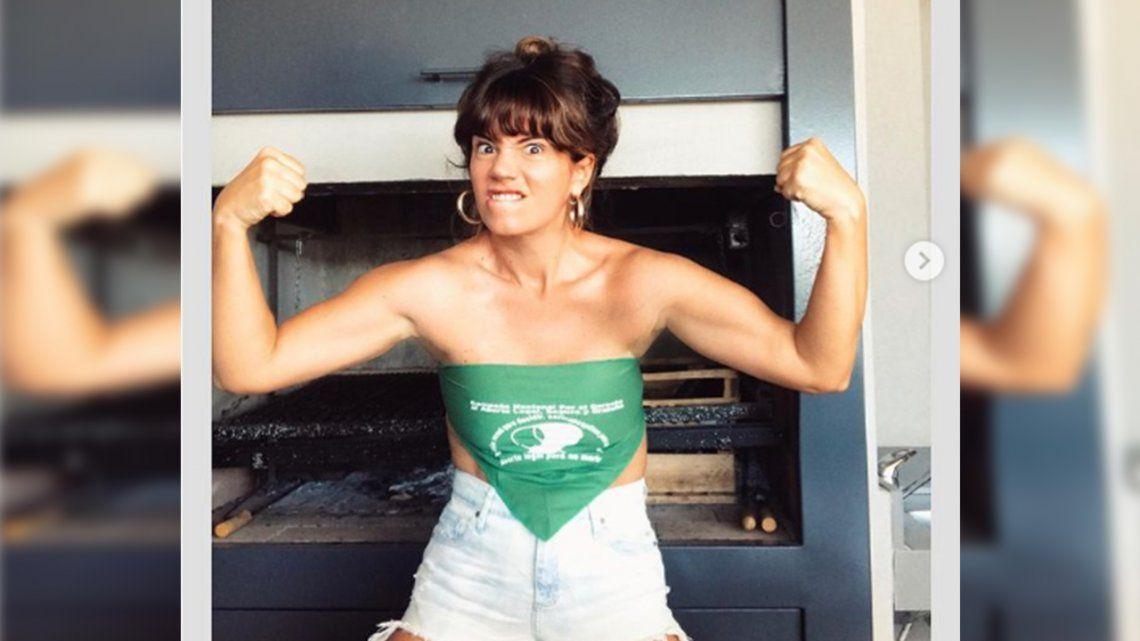 Aborto: Griselda Siciliani espera el debate bailando sexy.