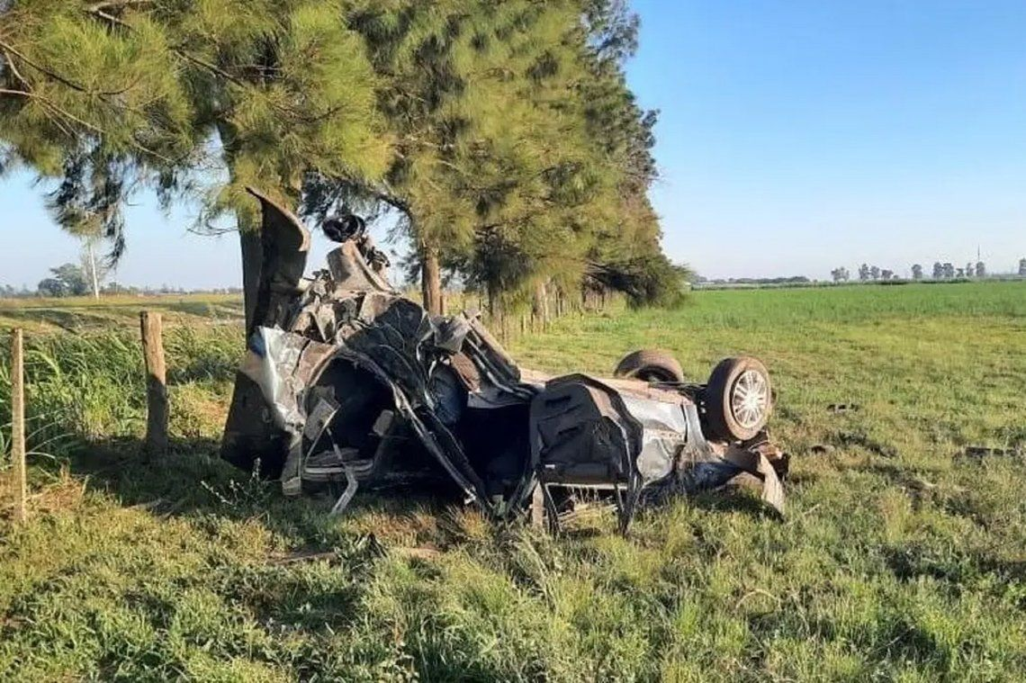El accidente fue en el límite de Santa Fe y Córdoba.