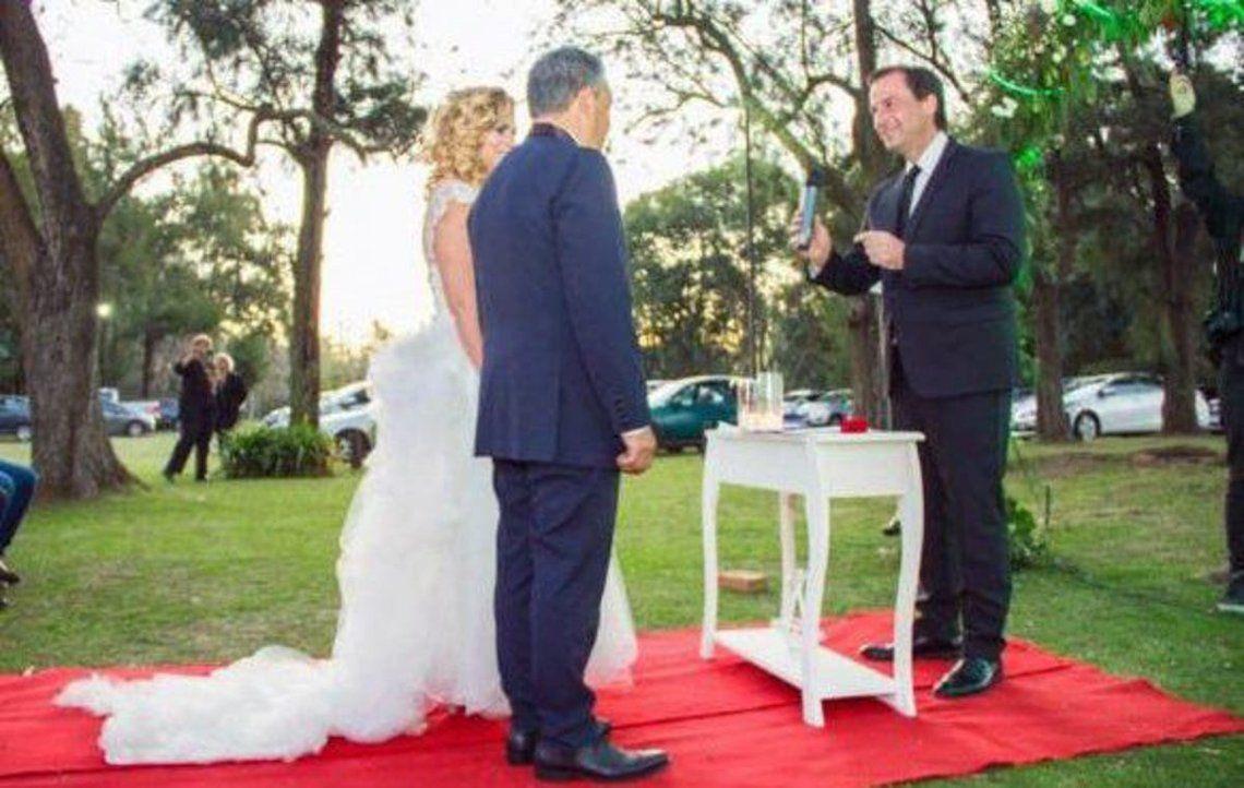 Cuando la secretariaPatricia Durány el concejalJorge Frazzetta se casaron