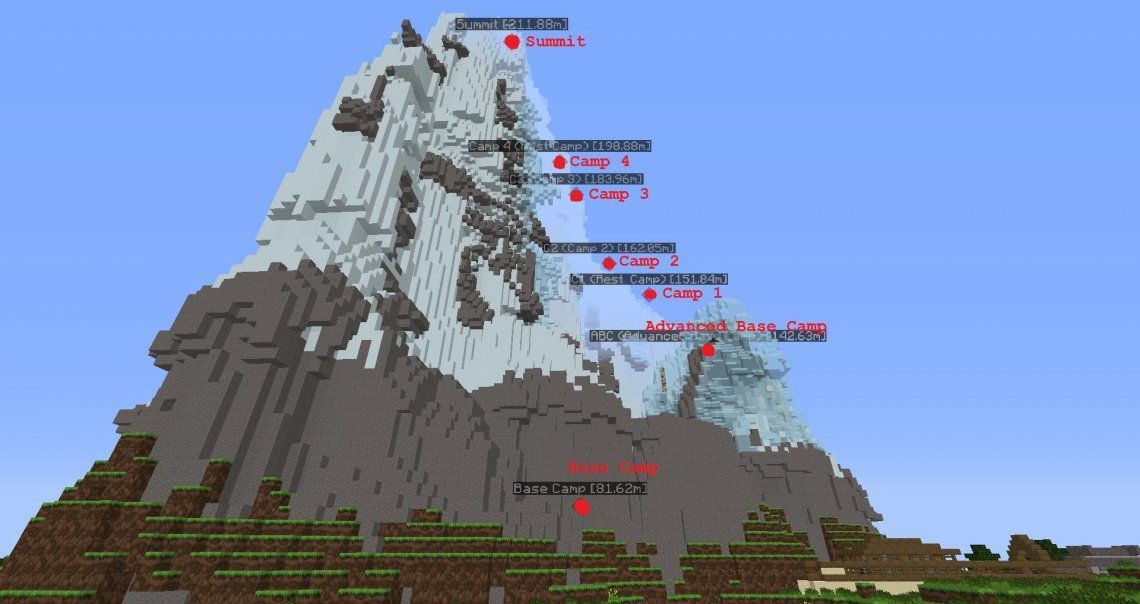 Minecraft da para todo: recreó el Everest a escala real
