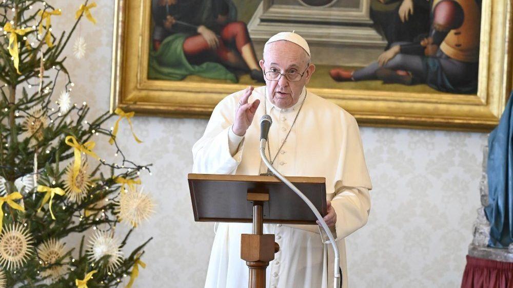 El Papa Francisco en el Aneglus del primer día de Año Nuevo