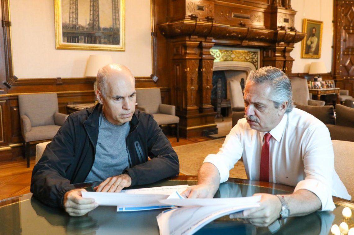 Alberto Fernández y Horacio Rodríguez Larreta en el centro del escenario político 2021