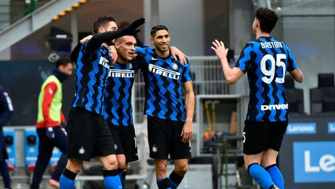 El Inter goleó al Crotone y es líder en Italia